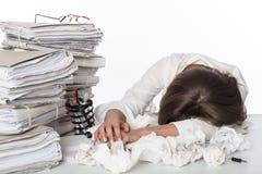 trött kvinna för affär Royaltyfri Bild