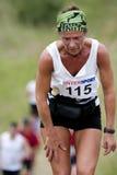 trött kvinna för löpare Arkivbild