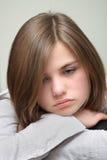 trött kvinnabarn Fotografering för Bildbyråer