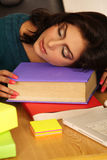 tröttad affärskvinna Arkivfoton