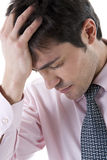 tröttad affärsman som trycks ned Royaltyfri Fotografi