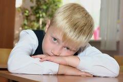 tröttad elev Fotografering för Bildbyråer