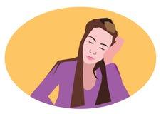 tröttad flicka Fotografering för Bildbyråer