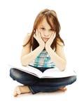 tröttad flickaskola Royaltyfri Bild