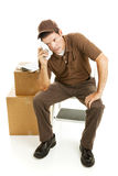 tröttad mover för leveransman arkivfoton
