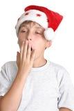 tröttat shoppa för jul Arkivfoto