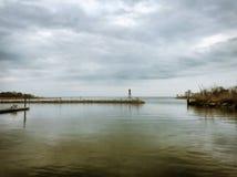 Trübsinn auf der Bucht stockfotos