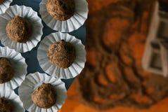 Trüffelschokolade Stockbild