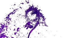 Trąba powietrzna ciecz lubi sok na białym tle Piękna barwiona farba kłębi Odosobniony przejrzysty vortex ilustracja wektor