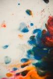 Trąby powietrznej vortex rozszerzanie się barwiący atrament barwi na białym tle Obrazy Royalty Free