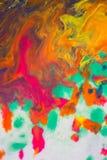 Trąby powietrznej vortex rozszerzanie się barwiący atrament barwi na białym tle Fotografia Royalty Free