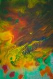 Trąby powietrznej vortex rozszerzanie się barwiący atrament barwi na białym tle Zdjęcie Stock