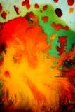 Trąby powietrznej vortex rozszerzanie się barwiący atrament barwi na białym tle Obraz Royalty Free