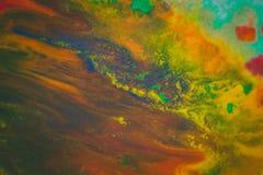 Trąby powietrznej vortex rozszerzanie się barwiący atrament barwi na białym tle Obraz Stock