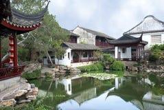 trädgårds- suzhou Arkivfoto