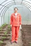 trädgårdsmästarekvinna Arkivbilder
