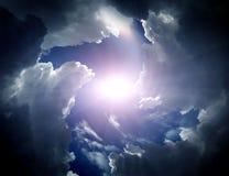 Trąba powietrzna w chmurach Fotografia Royalty Free