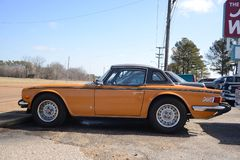 TR6 British Sports Motor Car. The Triumph TR6 1968–76 is a sports car built by British Triumph Motor Company between 1968 and 1976. It was the best-seller of Royalty Free Stock Photo