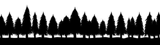 Tr?d kontur av skogen, vektor vektor illustrationer