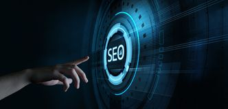 Tr?fego de classifica??o de SEO Search Engine Optimization Marketing foto de stock royalty free