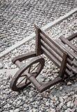 trä för torra händer för vagn trämänskligt gjort Arkivbild