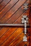 Tür-Griff und Verriegelung Stockbild