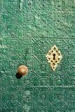 Tür mit arabischer Dekoration Stockbilder