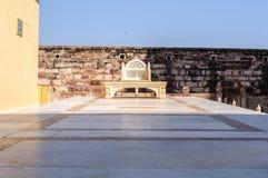 Trône de marbre dans le fort de Mehrangarh, Ràjasthàn, Jodhpur, Inde Photos stock