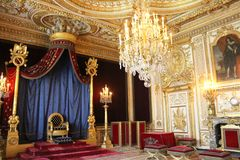 Trône de napoléon, Fontainebleau, France photographie stock libre de droits