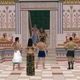 Trône Hall de pharaon Photos stock