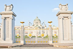 Trône Hall In Dusit Palace d'Ananta Samakhom Photo stock