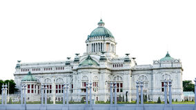 Trône Hall, palais royal thaïlandais d'Ananta Samakhom de Dusit Images stock