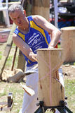 Trä som hugger av på den Cambera landsshowen Royaltyfri Fotografi