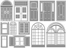 Tür- und Fenstervektor Lizenzfreies Stockfoto