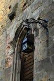 Tür zur Kathedrale auf Schloss und Kloster Oybin Lizenzfreies Stockfoto