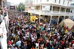 Tração 2010 do final da Taça do mundo de FIFA no cabo longo da rua Foto de Stock