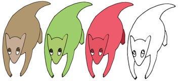 Tração ajustada engraçada da mão da coala do monstro da garatuja da cor dos desenhos animados da cópia ilustração royalty free