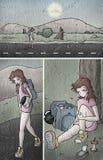 Tração cômica da arte da página ilustração royalty free
