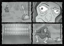 Tração cômica da cena da página Imagem de Stock