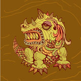 Tração da mão do dragão no estilo do zentangle Imagem de Stock Royalty Free