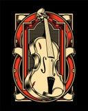 Tração da mão do violino ilustração royalty free
