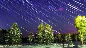 Tração das estrelas zoom Lapso de tempo vídeos de arquivo