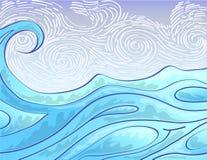 Tração disponivel da onda do mar Imagem de Stock Royalty Free