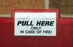Tração do alarme de incêndio Imagem de Stock Royalty Free