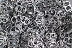 Tração do anel do alumínio da tampa da lata Foto de Stock Royalty Free