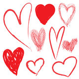 Tração do coração Foto de Stock