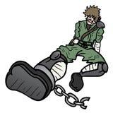 Tração do guerreiro ilustração stock