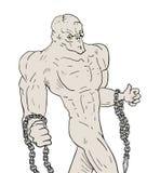 Tração do monstro ilustração royalty free