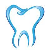 Tração estilizado do dente ilustração royalty free