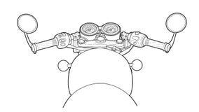 Tração lisa do vetor do projeto do volante da bicicleta fotografia de stock royalty free